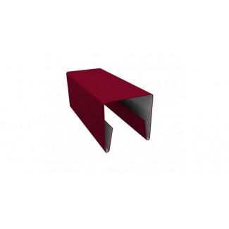 П-образная боковая планка  для забора Жалюзи, развертка 0,125 П/Э двухсторонний