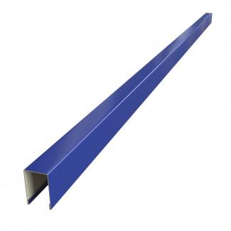 П-образная верхняя планка  для забора Жалюзи, развертка 0,125 П/Э МАТ