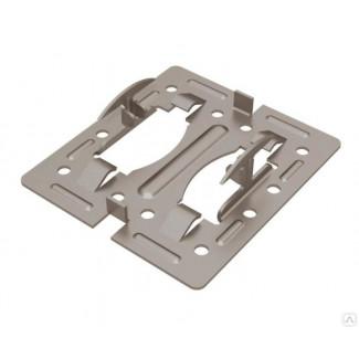 крепежный кляммер скрытый рядовой с дистанциром 80х10, 1,2 мм