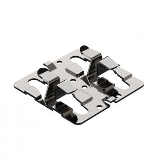 крепежный кляммер рядовой с дистанциром 70х10 1,2 мм