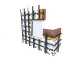 Элементы несущего каркаса для навесных фасадов