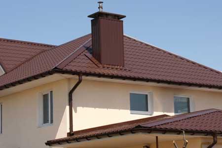 крыша с матовой металлочерепицей Империя