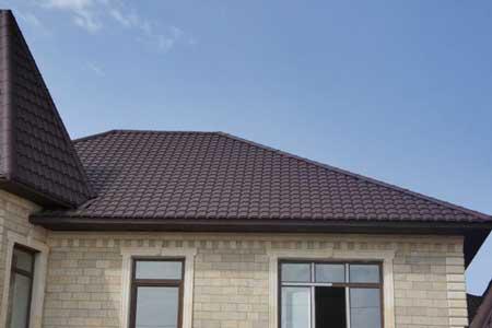 крыша с металлочерепицей Каскад
