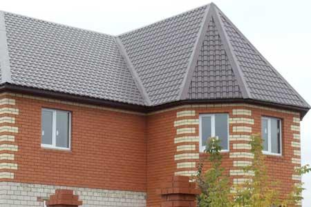 крыша с металлочерепицей KASKAD