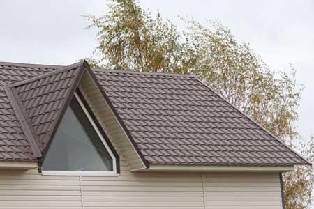 крыша с матовой металлочерепицей Каскад