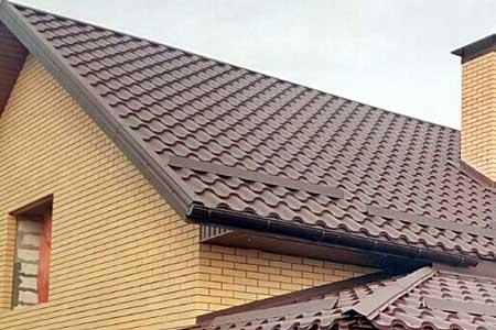 крыша с матовой металлочерепицей Валенсия